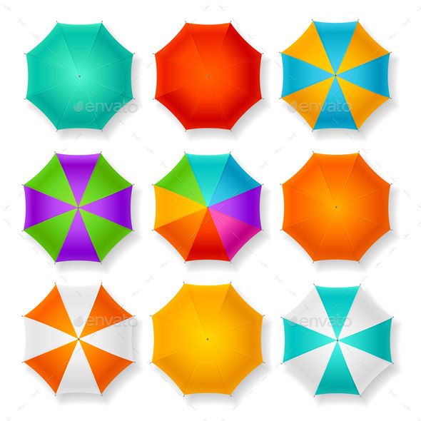 Umbrella Set. Vector - Objects Vectors