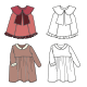 Technical Drawings of Children's Clothes - GraphicRiver Item for Sale