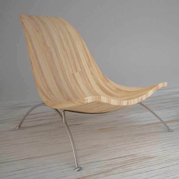 Relax wood chair - 3DOcean Item for Sale