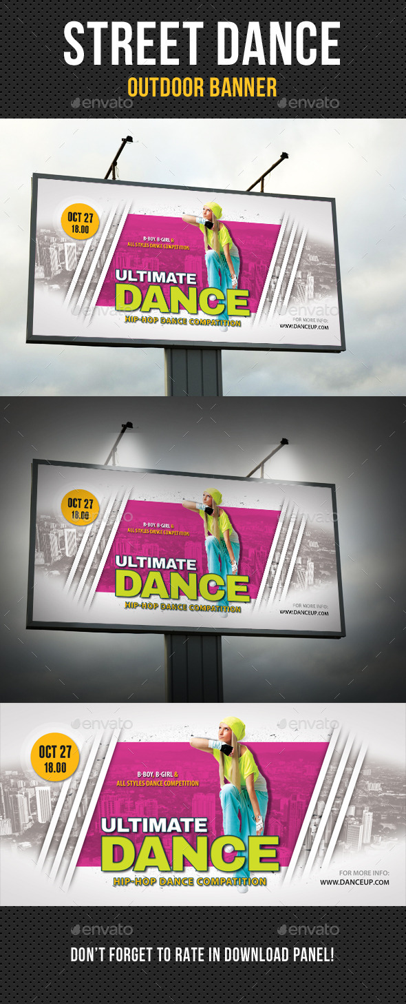 Street Dance Competition Outdoor Banner - Signage Print Templates
