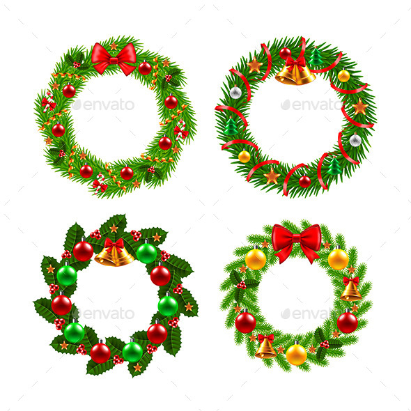 Christmas Wreath Vector Set
