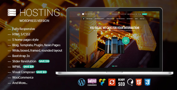 Hosting – Multipurpose WooCommerce Theme
