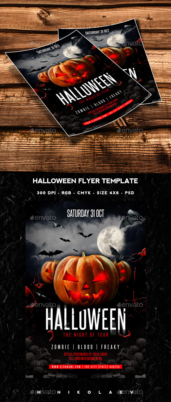 Halloween Flyer by MaksN | GraphicRiver