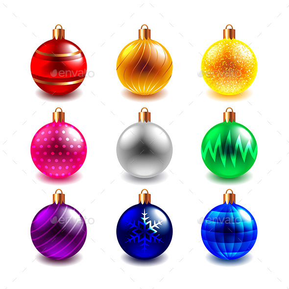 Christmas Ball Vector Set - Christmas Seasons/Holidays
