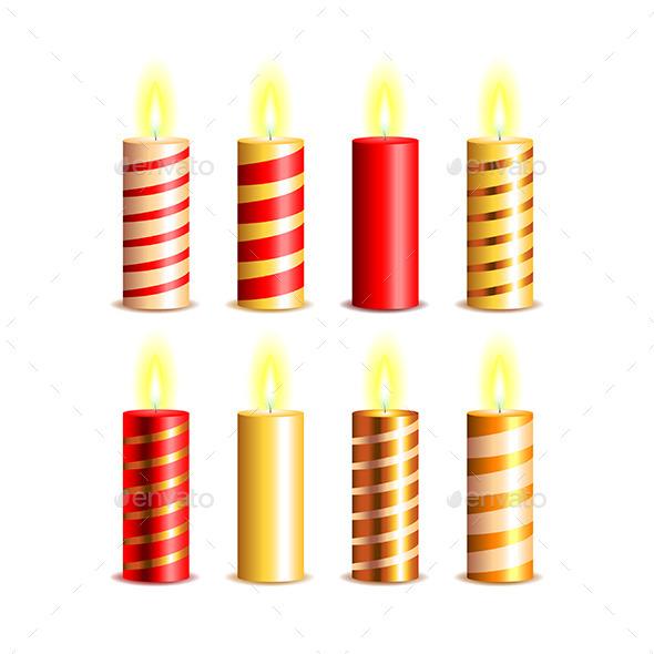 Christmas Candles Vector Set - Christmas Seasons/Holidays