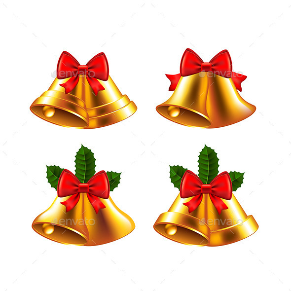 Christmas Bells Vector Set - Christmas Seasons/Holidays
