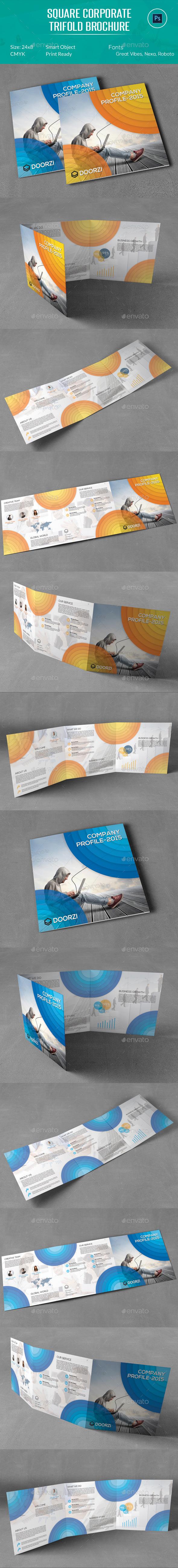 Company Profile Square Trifold Brochure - Corporate Brochures