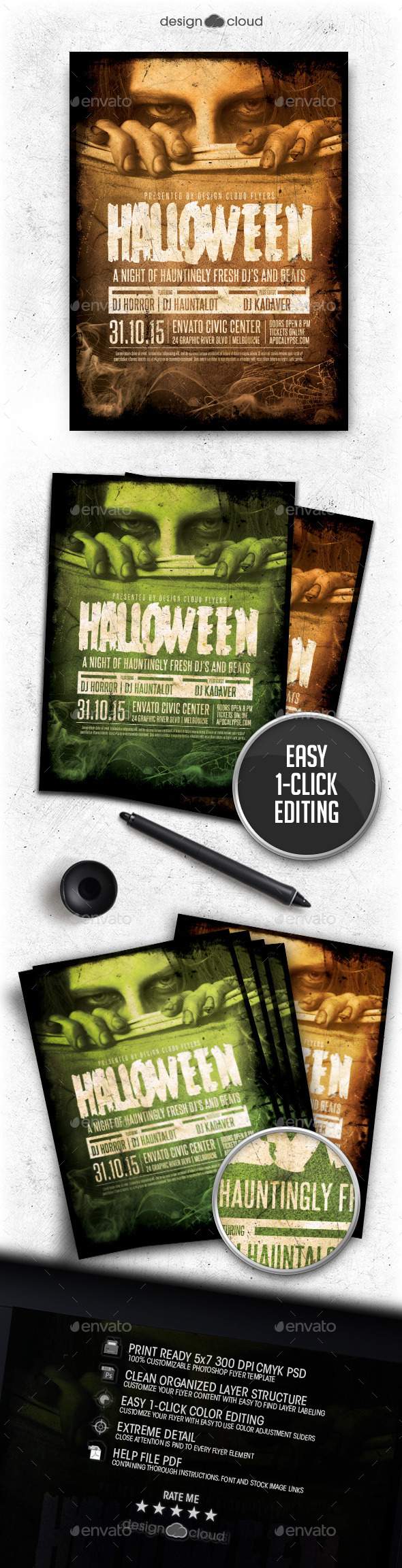 Halloween Event Flyer Template - Holidays Events