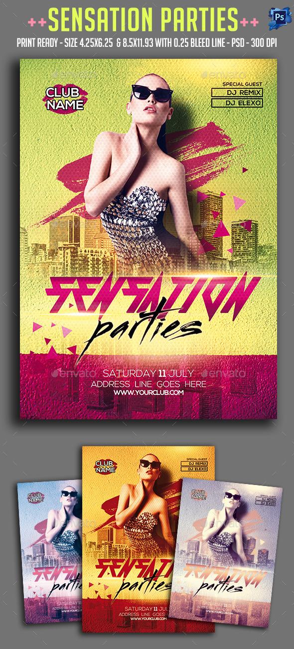 Sensation Party Flyer  - Clubs & Parties Events