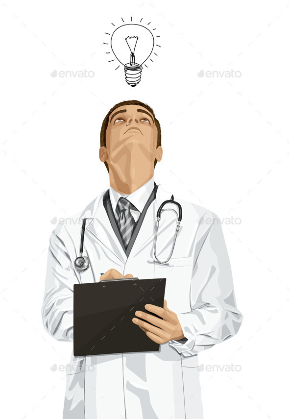 Doctor Man with Clipboard