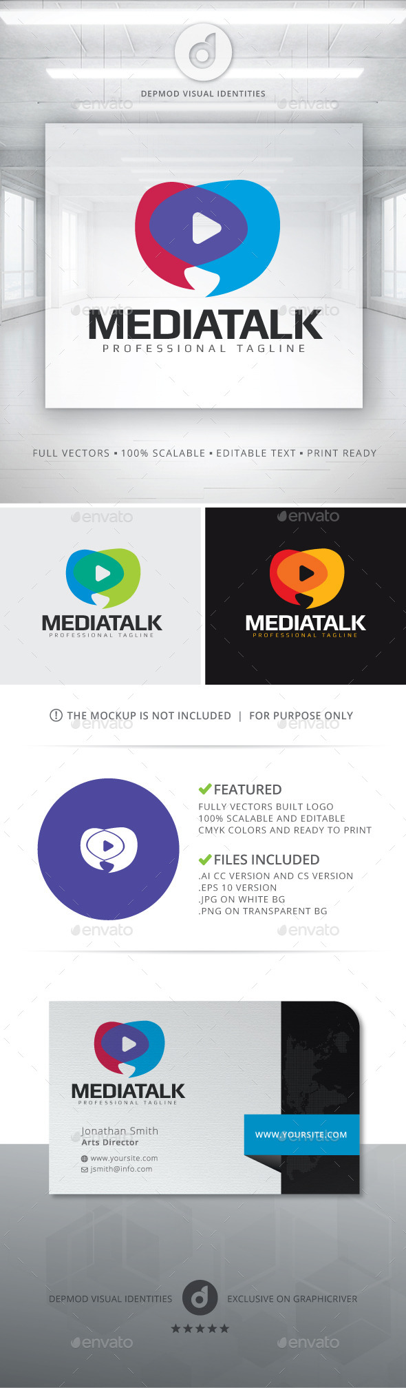 Media Talk Logo - Symbols Logo Templates