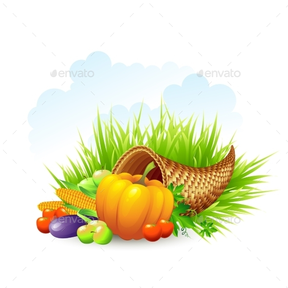 Thanksgiving Card Wicker Basket Background - Seasons Nature