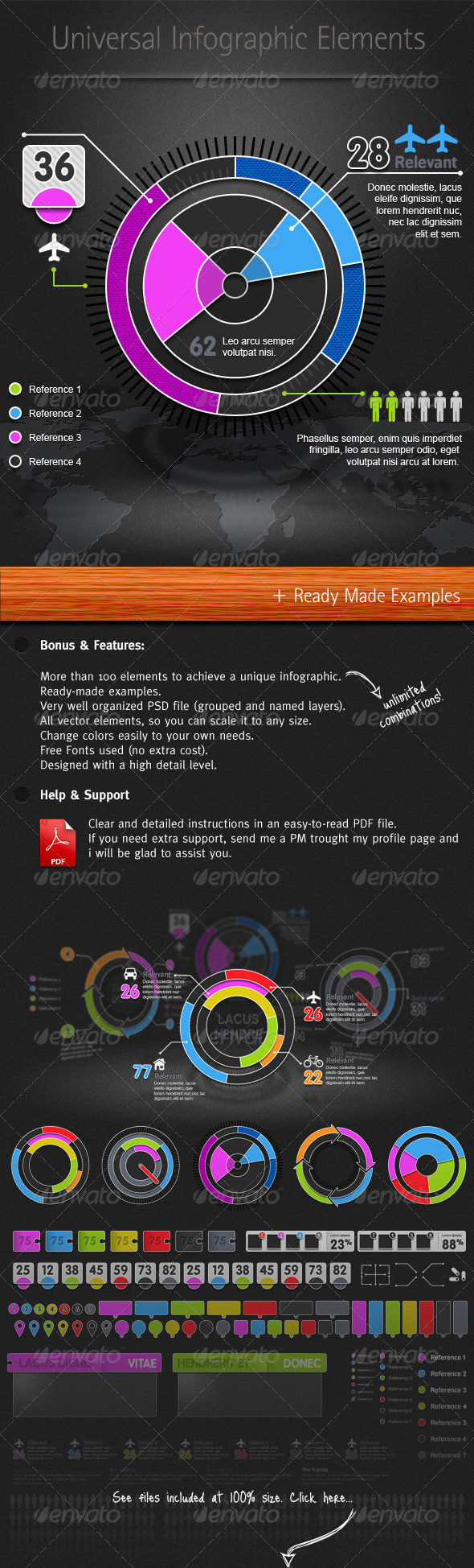 Universal Infographic Elements - Infographics