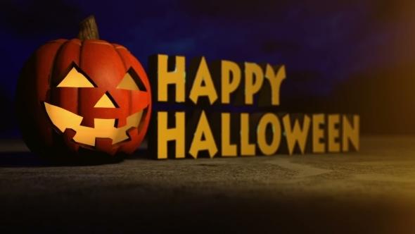 Halloween Pumpkin Creepy Holiday Background