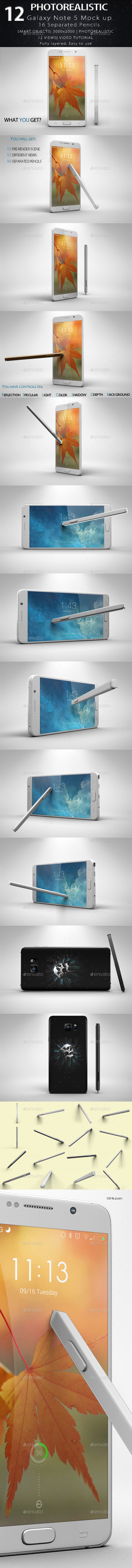 Galaxy Note 5 Mock Up - Mobile Displays