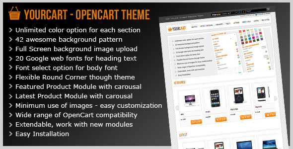 Free Download Yourcart - Opencart Premium Theme Nulled Latest Version