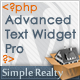 Advanced Text Widget Pro