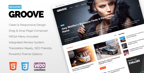 GROOVE - Clean Newspaper & Magazine Theme - News / Editorial Blog / Magazine