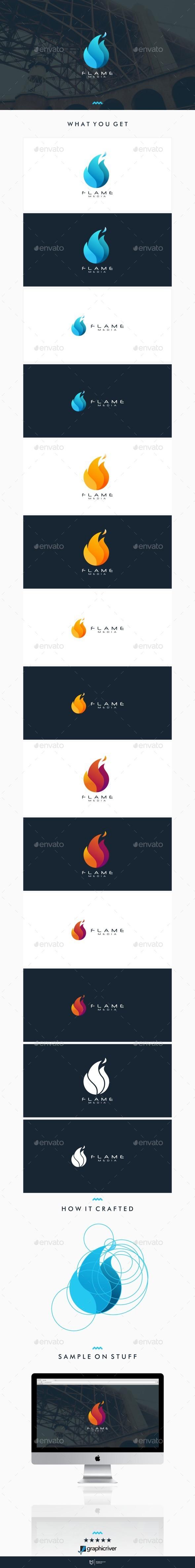 Flame Media Logo - Symbols Logo Templates