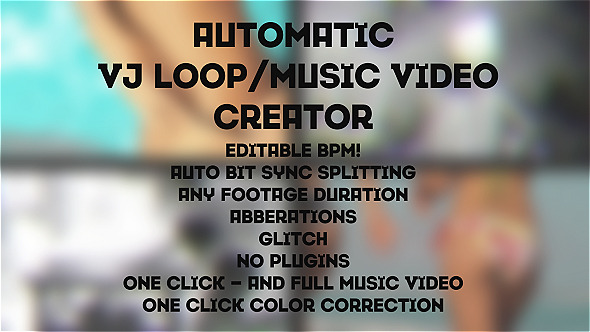 Automatic MusicVJ Loop Creator Toolkit