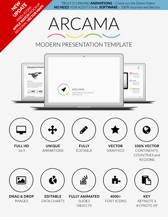 Arcama  Keynote Presentation Template By Visonic  Graphicriver