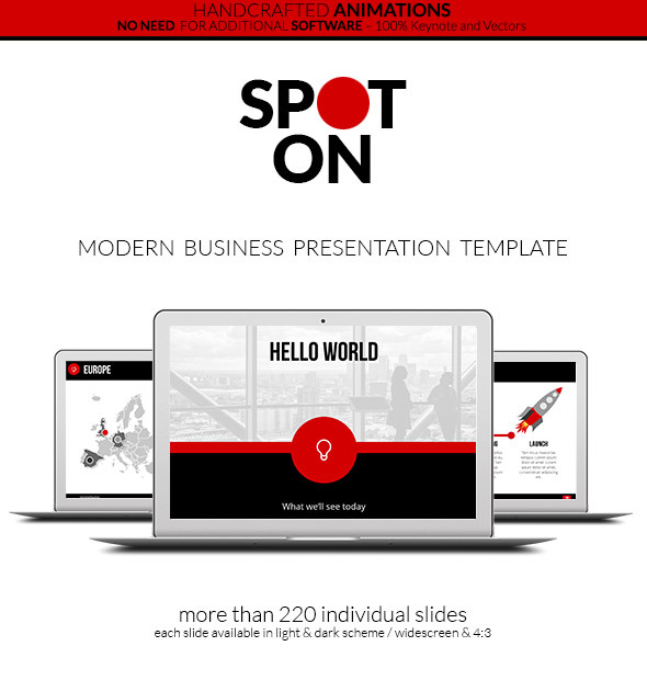 Spot On - Keynote Presentation Template - Creative Keynote Templates