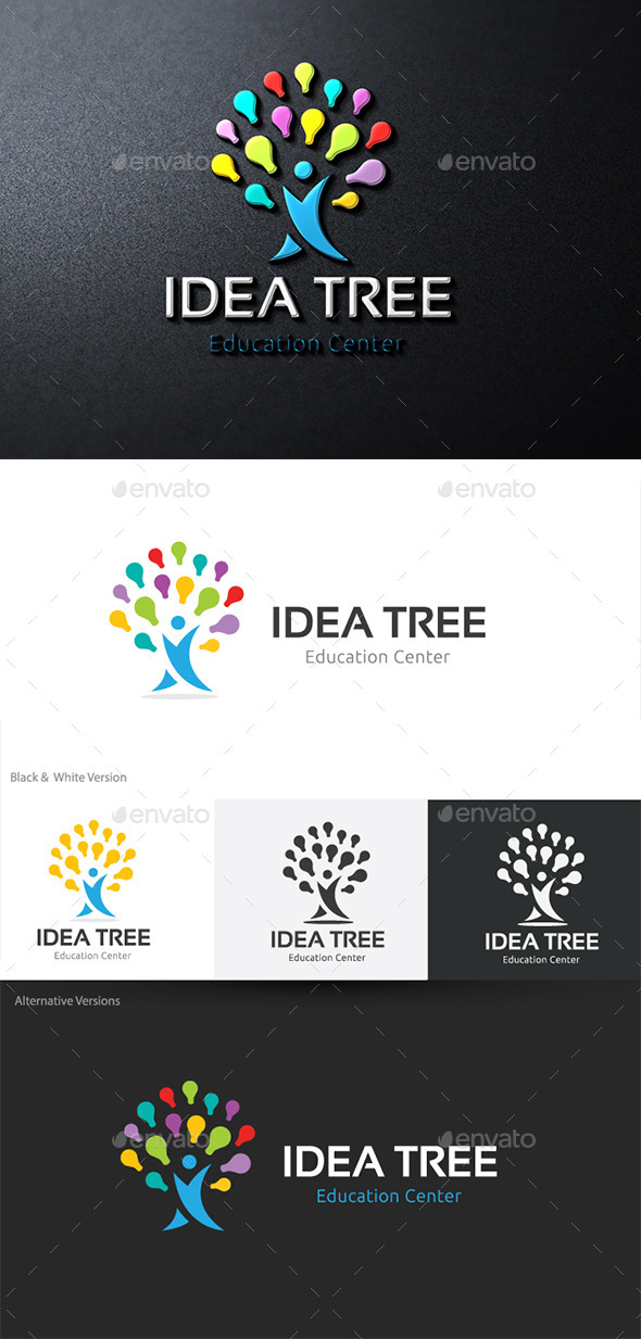 Idea Tree - Nature Logo Templates