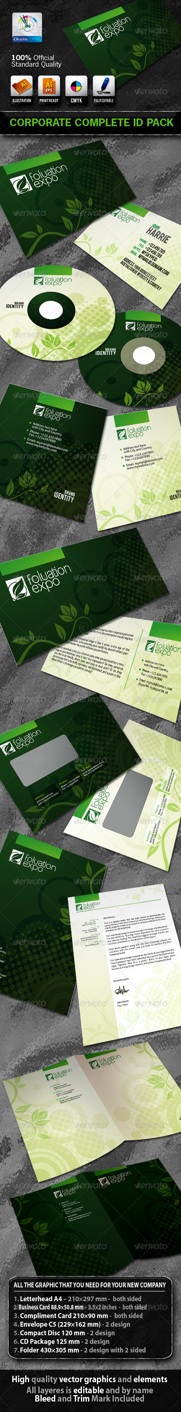 FoluationExpo Business Corporate ID Pack + Logo - Stationery Print Templates