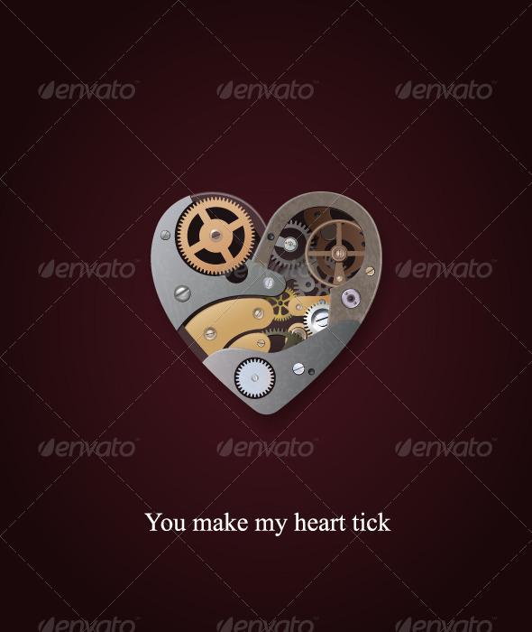 Mechanical heart valentine - Valentines Seasons/Holidays