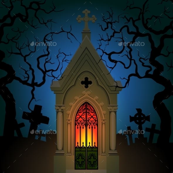 Old Gothic Crypt - Halloween Seasons/Holidays