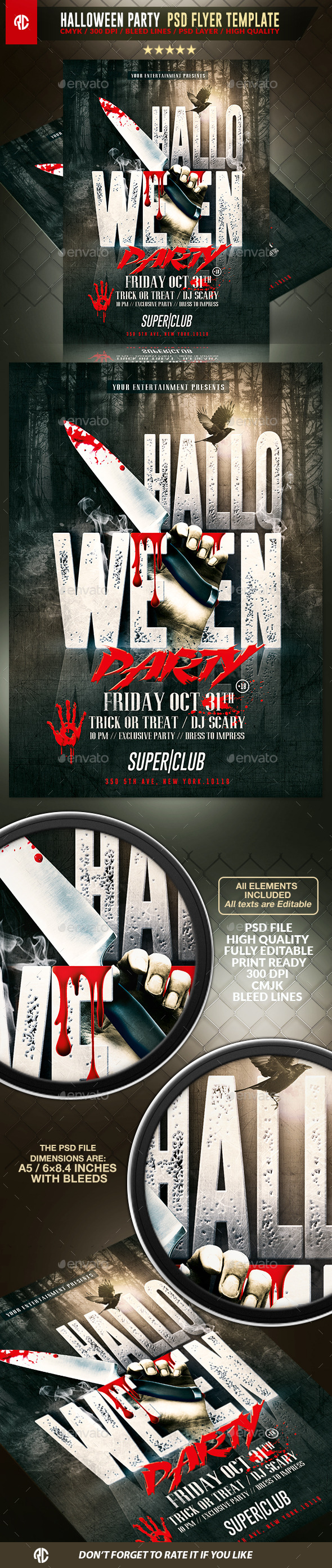 Halloween Horror Party Flyer Template