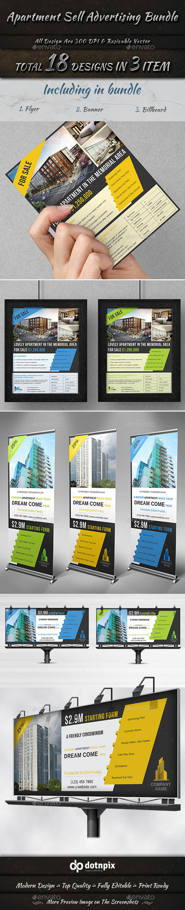 Apartment Sell Advertising Bundle - Commerce Flyers