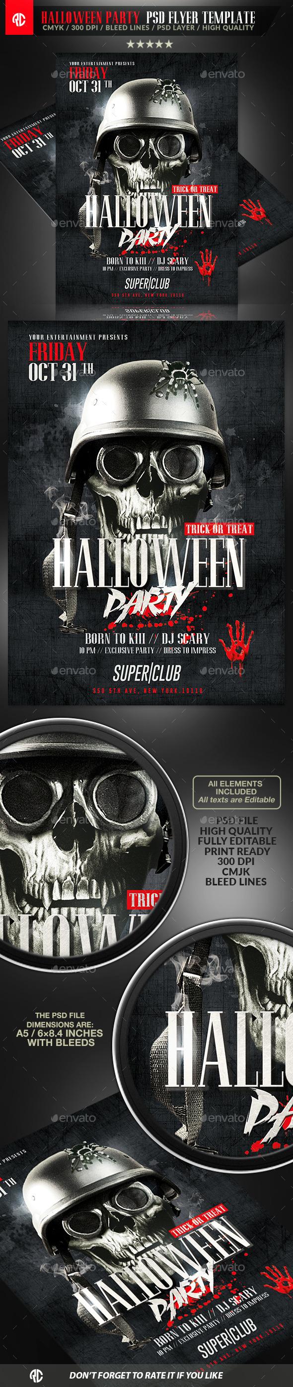 Classy Halloween Party | Flyer Template - Flyers Print Templates