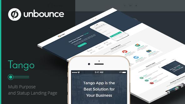 Tango App – Unbounce Landing Page