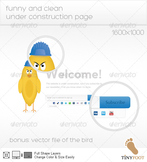 Funny and Clean Under Construction Page - Miscellaneous Web Elements