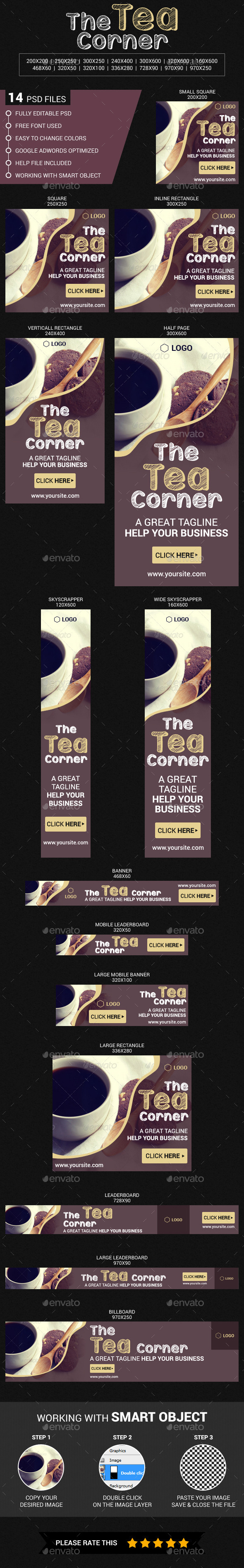 The Tea Corner - Banners & Ads Web Elements