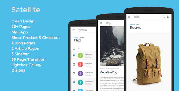 Satellite – Mobile & App Template