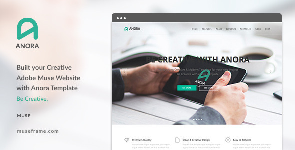Anora - Design Multi-Purpose Muse Template - Muse Templates
