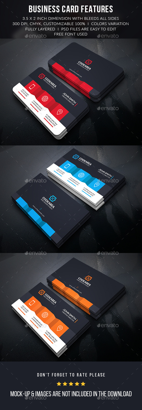 Codearea Creative Business Card - Business Cards Print Templates