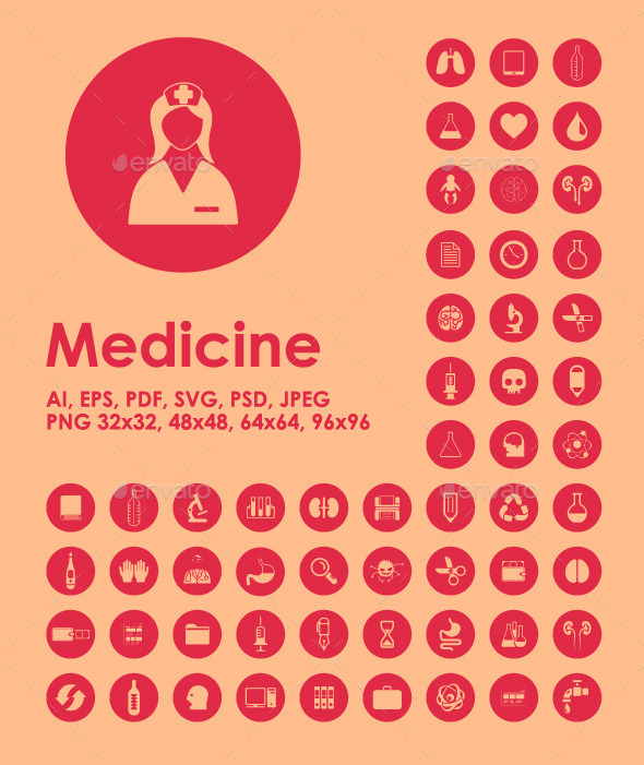 Set of medicine icons - Icons