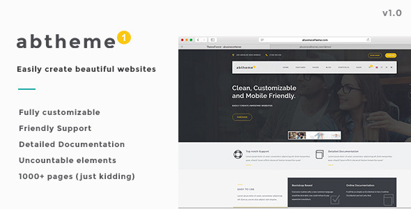 ABT – Bootstrap Responsive HTML5 Template