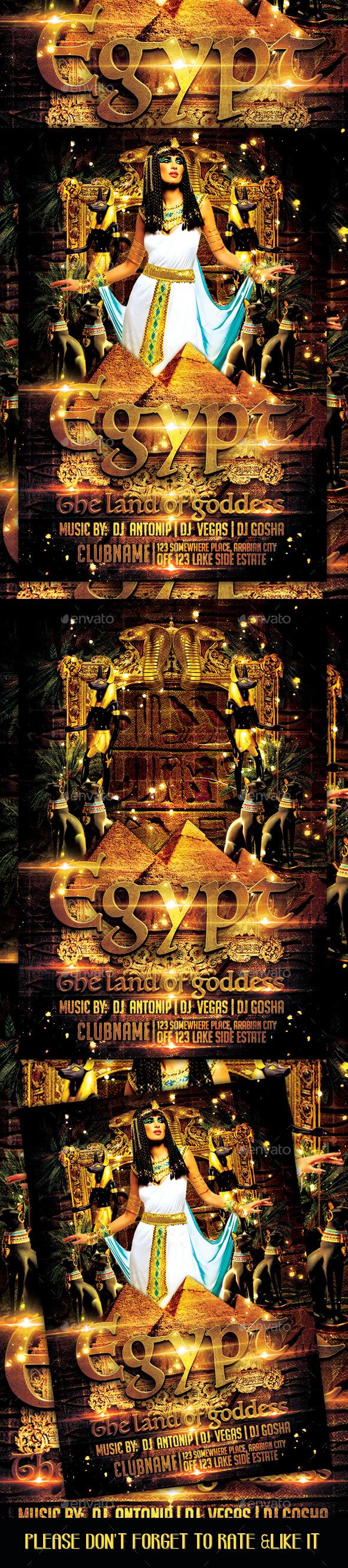 Egypt Night Flyer - Flyers Print Templates