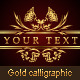Gold calligraphic design elements - GraphicRiver Item for Sale