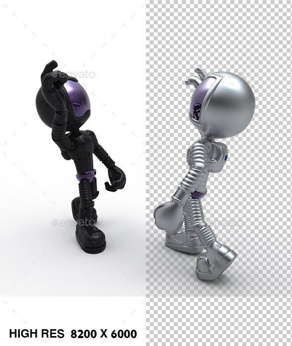 3D Astronaut Meet Friend - Characters 3D Renders