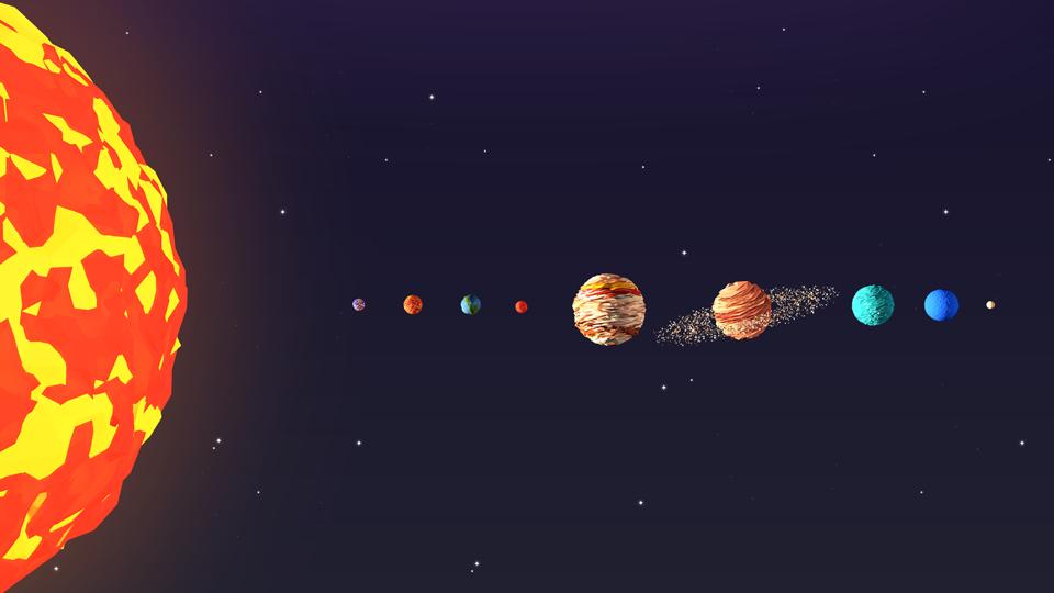 Low Poly Solar System By Antonmoek 3docean