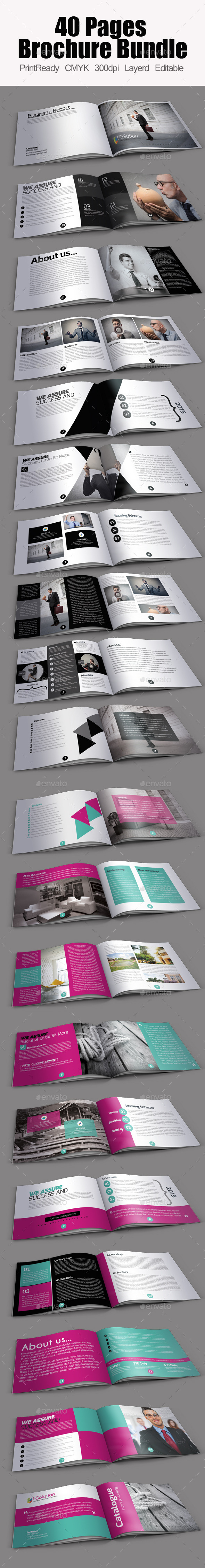Multi use Minimal Brochure Bundle - Corporate Brochures