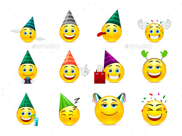 Smileys in Caps - Miscellaneous Characters