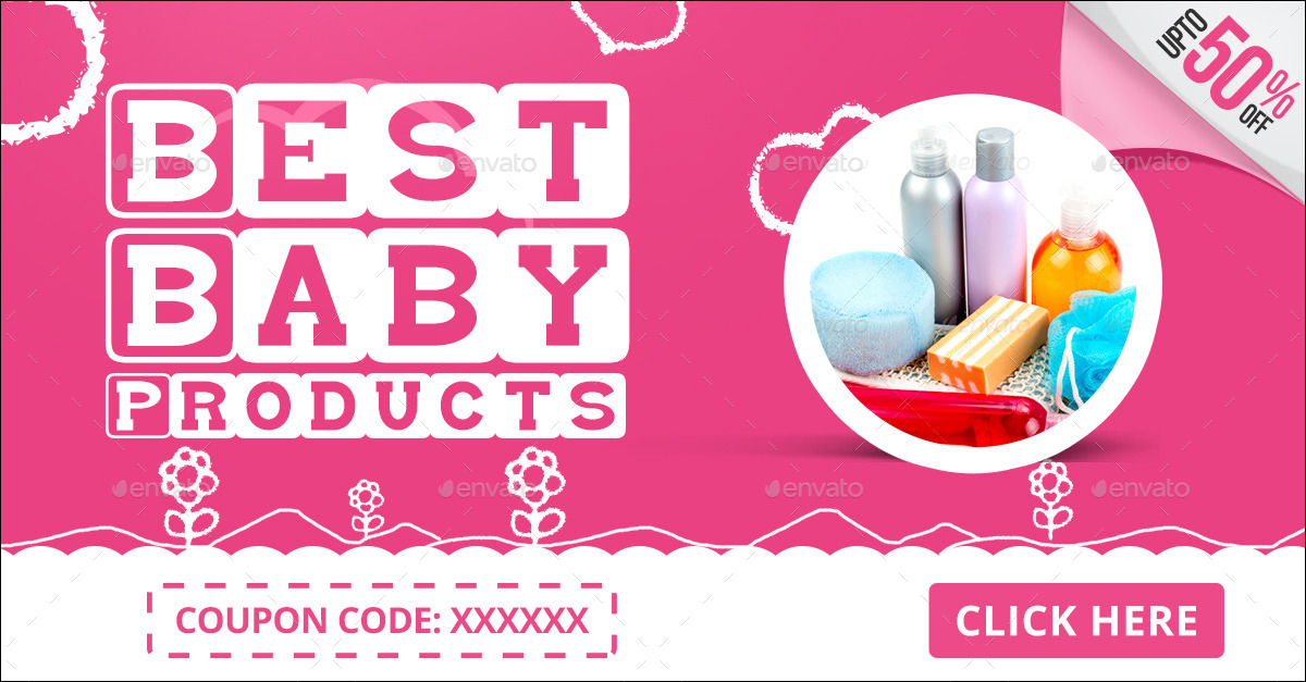 Baby Products Banners by doto | GraphicRiver