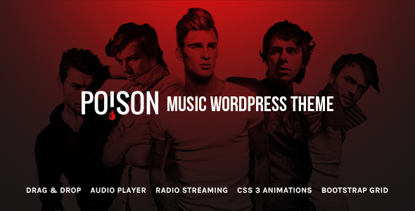 Poison – Music Bands Artist Club WordPress Theme