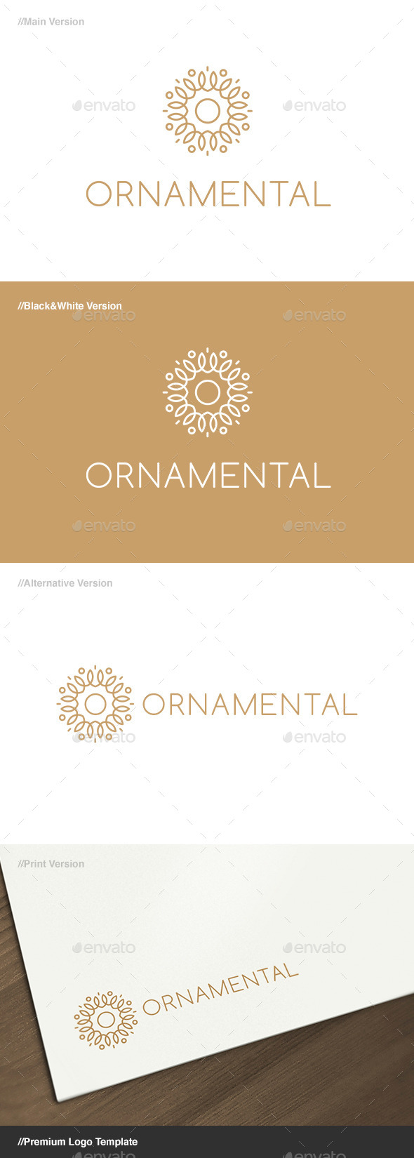 Ornamental Logo - Crests Logo Templates